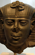 Thutmose III, sixth Pharaoh of the Eighteenth Dynasty. During the first twenty-two years of Thutmose's reign he was co-regent with his stepmother, Hatshepsut, who was named the pharaoh. Thutmose III ruled Egypt for almost fifty-four years
