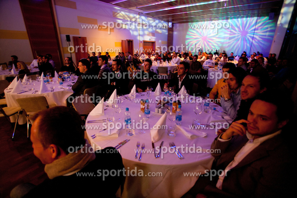 Slovenian men's football player of the year 2011 award at the SPINS XI  Nogometna Gala, on November 24, 2011 in Hotel Mons, Ljubljana, Slovenia. (Photo By Vid Ponikvar / Sportida.com)