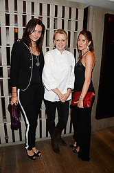 Left to right, MELLISSA BRADBURY, Chef SOPHIE MICHELL and PRINCESS TAMARA CZARTORYSKI-BORBON at the Launch of Pont St Restaurant at Belgraves Hotel, 20 Chesham Place, London SW1 on 10th September 2013.