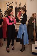 STEFANIA PRAMMA; ROKSANDA ILINCICStefania Pramma launched her handbag brand PRAMMA  at the Kensington residence of her twin sister, art collector Valeria Napoleone.. London.  29 April 2015