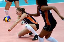 24-09-2014 ITA: World Championship Volleyball Thailand - Nederland, Verona<br /> Anne Buijs past de bal. De pass moet morgen tegen USA perfect zijn.