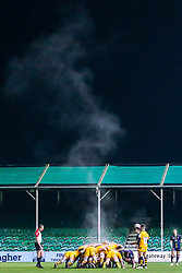 Worcester Cavaliers and Wasps A scrum as steam rises into the air - Mandatory by-line: Robbie Stephenson/JMP - 16/12/2019 - RUGBY - Sixways Stadium - Worcester, England - Worcester Cavaliers v Wasps A - Premiership Rugby Shield