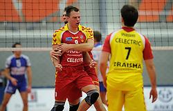 12-02-2011 VOLLEYBAL: AB GRONINGEN/LYCURGUS - DRAISMA DYNAMO: GRONINGEN<br /> In een bomvol Alfa-college Sportcentrum werd Dynamo met 3-2 (25-27, 23-25, 25-19, 25-23 en 16-14) verslagen door Lycurgus / Niels Plinck (#8) en Jarik Niebeek (#5)<br /> ©2011-WWW.FOTOHOOGENDOORN.NL