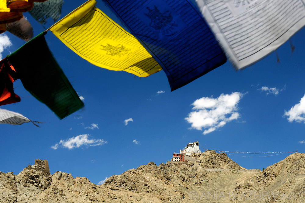 Tsemo Fort in Ladakh visible from everywhere in Leh.