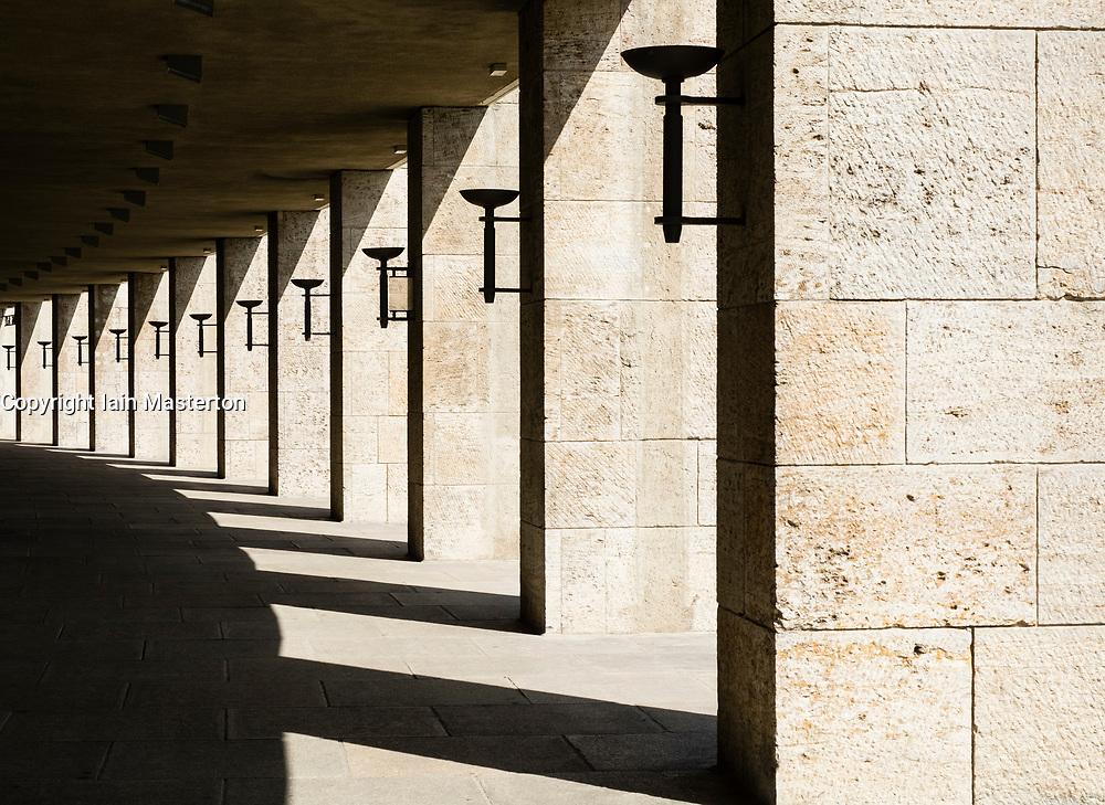 Passageway on perimeter of Olympiastadion ( Olympic Stadium) in Berlin, Germany