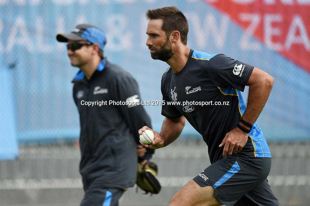 Grant Elliott during training at Eden Park in Auckland ahead of the semi final Cricket World Cup match against South Africa tomorrow. Monday 23 March 2015. Copyright photo: Andrew Cornaga / www.photosport.co.nz