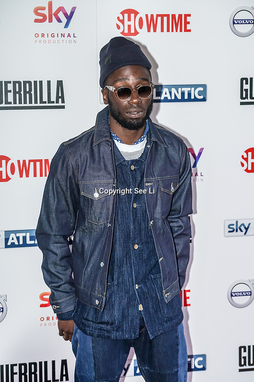 London,England,UK. 6th April, 2017. Nathaniel Martello-White attends the UK premiere of Sky Original Production Guerrilla at The Curzon,Bloomsbury,London,UK. by See Li