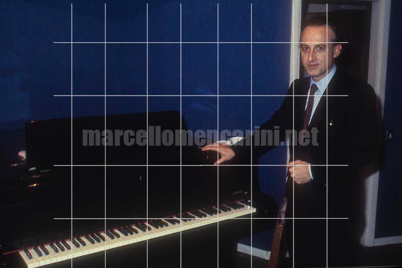 Pianist Maurizio Pollini, Rome 1988 / Il pianista Maurizio Pollini, Roma 1988 - © Marcello Mencarini