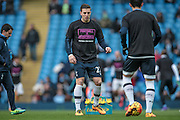 Kevin Wimmer (Tottenham Hotspur) before the Barclays Premier League match between Manchester City and Tottenham Hotspur at the Etihad Stadium, Manchester, England on 14 February 2016. Photo by Mark P Doherty.