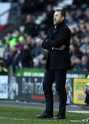 Birmingham City Manager Gary Rowett - Mandatory byline: Robbie Stephenson/JMP - 16/01/2016 - FOOTBALL - iPro Stadium - Derby, England - Derby County v Birmingham City - Sky Bet Championship
