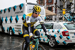 Rider of Team Lotto NL - Jumbo at Liège, before the start of the 102th edition of Liège-Bastogne-Liège race running 253 km from Liège to Liège, Belgium, 24 April 2016.<br /> Photo by Pim Nijland / PelotonPhotos.com<br /> <br /> All photos usage must carry mandatory copyright credit (© Peloton Photos | Pim Nijland)