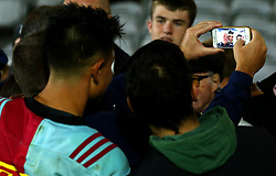 Marcus Smith of Harlequins poses for a selfie with fans - Mandatory by-line: Robbie Stephenson/JMP - 06/10/2017 - RUGBY - Twickenham Stoop - London, England - Harlequins v Sale Sharks - Aviva Premiership