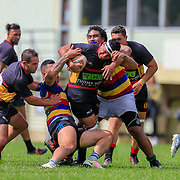 TAWA, NEW ZEALAND - 9 MARCH: Action during the pre-season rugby union game played on 9 March 2019, between Tawa v Paremata-Plimmerton, played at Tawa, Wellington, New Zealand.