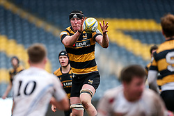 Joe Tunney of Wasps U18 in action - Rogan Thomson/JMP - 16/02/2017 - RUGBY UNION - Sixways Stadium - Worcester, England - Wasps U18 v Exeter Chiefs U18 - Premiership Rugby Under 18 Academy Finals Day 3rd Place Play-Off.