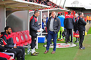 Crawley Manager Mark Yates during the Sky Bet League 2 match between Crawley Town and Hartlepool United at the Checkatrade.com Stadium, Crawley, England on 19 March 2016. Photo by Jon Bromley.