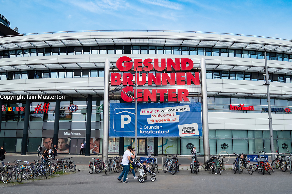 Exterior of Gesundbrunnen Canter shopping mall in Berlin, Germany