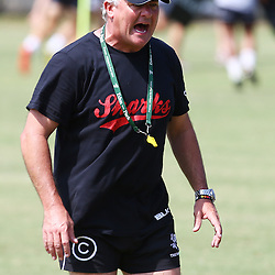 DURBAN, SOUTH AFRICA, December 10. 2015 -Gary Gold (Sharks Director of Rugby) during The Cell C Sharks Pre Season training for the 2016 Super Rugby Season at Growthpoint Kings Park in Durban, South Africa. (Photo by Steve Haag)<br /> images for social media must have consent from Steve Haag