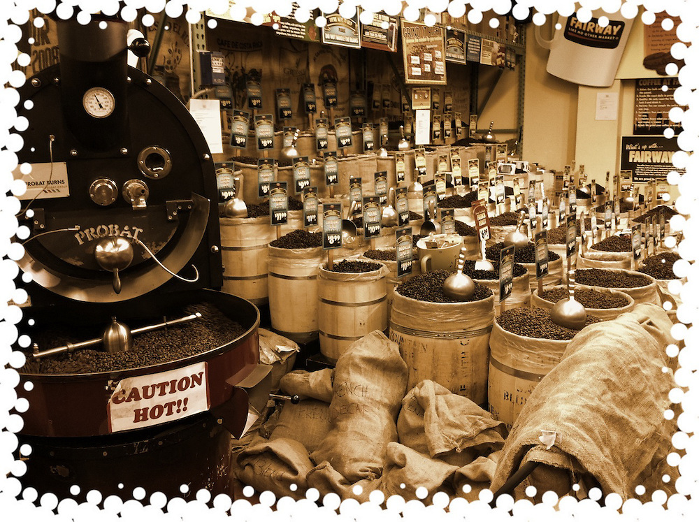 Coffee beans for sale,in barrels cellphone photography,Iphone pictures,smartphone pictures