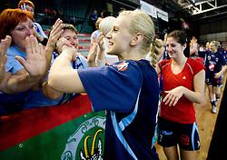 Barbara Varlec of Slovenia after the Women European Championships Qualifying handball match between National Teams of Slovenia and Belarus, on October 17, 2009, in Kodeljevo, Ljubljana.  (Photo by Vid Ponikvar / Sportida)