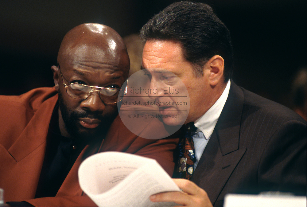 Singer Isaac Hayes speaks in support of Scientology during testimony in Congress September 18, 1997 in Washington, DC.