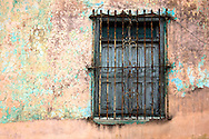 Window and wall in Holguin, Cuba.