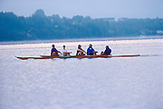 Rowing on Lake Ramsey at dawn<br /> Sudbury<br /> Ontario<br /> Canada