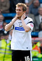 Photo: Alan Crowhurst.<br />Crystal Palace v Derby County. Coca Cola Championship. 29/04/2007. Derby's Arturo Lupoli looks dejected after Palace score.