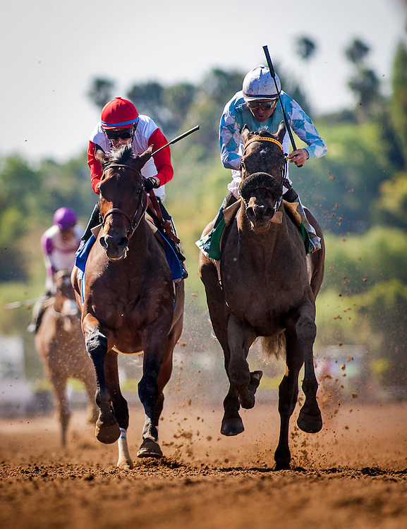 April 04 2015: Prospect Park with Kent Desourmeaux  and Cross The Line race in the Santa Anita Derby at Santa Anita Park in Arcadia CA. Alex Evers/ESW/CSM