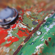 Rust And Paint Layers - Pottsville - Merlin, Oregon - Lensbaby