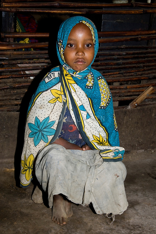 Young girl from Ngiresi Village close to Arusha, Tanzania.