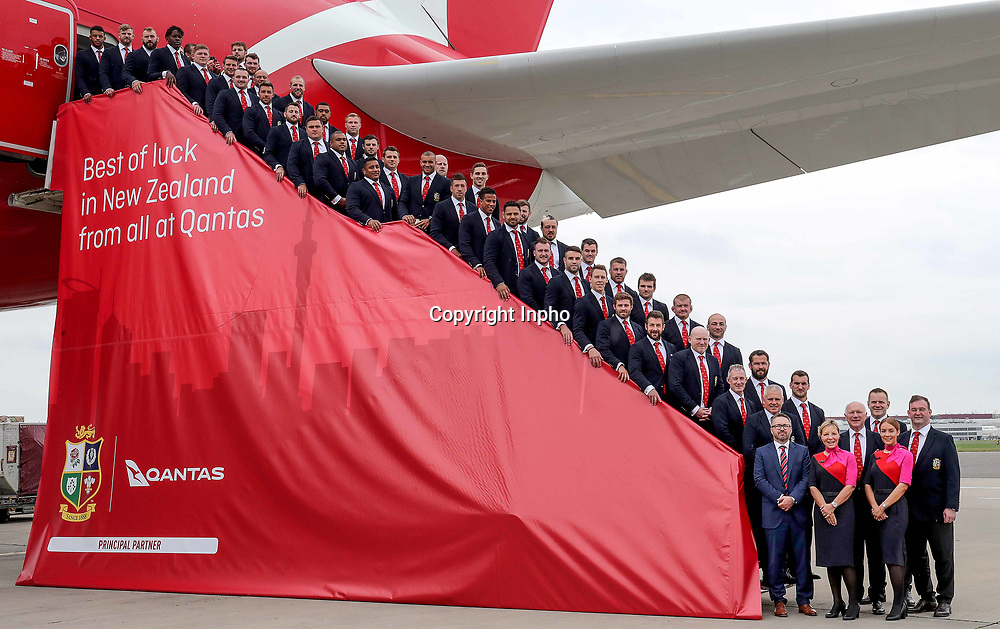 2017 British &amp; Irish Lions Tour To New Zealand<br /> The British &amp; Irish Lions Depart For New Zealand, Heathrow Airport, London 29/5/2017<br /> The British &amp; Irish Lions touring party before departing for New Zealand<br /> Mandatory Credit &copy;INPHO/Dan Sheridan / www.photosport.nz
