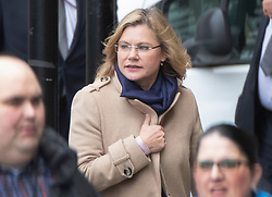 © Licensed to London News Pictures. 05/11/2019. London, UK. Former cabinet member Justine Greening attends Parliament on her last day as an MP. Ms Greening is standing down as the MP for Putney. The House is sitting for the last time today ahead of the General Election which will take place on December 12th. Photo credit: Peter Macdiarmid/LNP