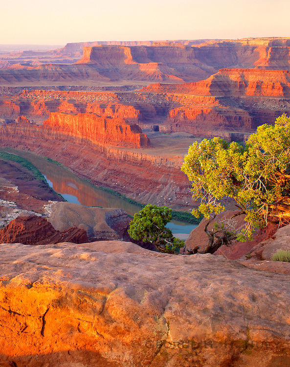 0360-1001 ~ Copyright: George H.H. Huey ~ Canyonlands National Park and Colorado River from Dead Horse Point State Park, Utah.