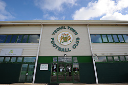 General view of Huish Park prior to kick off  - Photo mandatory by-line: Harry Trump/JMP - Mobile: 07966 386802 - 21/02/15 - SPORT - Football - Sky Bet League One - Yeovil Town v Gillingham - Huish Park, Yeovil, England.