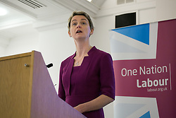 Yvette Cooper MP, Labour's Shadow Home Secretary, gives a speech about further policy proposals to deliver an immigration system.<br /> Local Government House, London, United Kingdom. Thursday, 10th April 2014. Picture by Daniel Leal-Olivas / i-Images