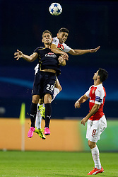 Marko Pjaca #20 of GNK Dinamo Zagreb during football match between GNK Dinamo Zagreb, CRO and Arsenal FC, ENG in Group F of Group Stage of UEFA Champions League 2015/16, on September 16, 2015 in Stadium Maksimir, Zagreb, Croatia. Photo by Urban Urbanc / Sportida