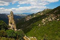 Italie. Sardaigne. Province de Nuoro. Paysage du Supramonte dans la region de Dorgali. // Italy. Sardinia. Nuoro province. Landscape of Supramonte around Dorgali.