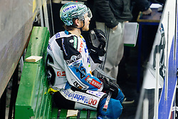 Rob Hisey (EHC Liwest Linz, #26) during ice-hockey match between HDD Tilia Olimpija and EHC Liwest Black Wings Linz at second match in Semifinal  of EBEL league, on March 8, 2012 at Hala Tivoli, Ljubljana, Slovenia. (Photo By Matic Klansek Velej / Sportida)
