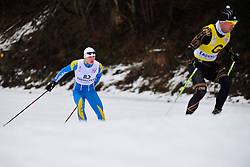 SHULGA Dmytro Guide:  GERGARDT Artur, UKR at the 2014 IPC Nordic Skiing World Cup Finals - Long Distance