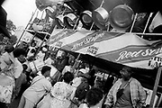 Lorry carrying a steel pan band through the crowd, Notting Hill Carnival, London, 1989