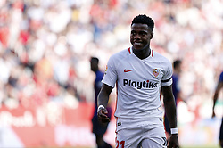 February 23, 2019 - Seville, Madrid, Spain - Quincy Promes (Sevilla FC) seen reacting during the La Liga match between Sevilla FC and Futbol Club Barcelona at Estadio Sanchez Pizjuan in Seville, Spain. (Credit Image: © Manu Reino/SOPA Images via ZUMA Wire)