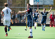 AMSTELVEEN -  Hockey Hoofdklasse heren Pinoke-Amsterdam (3-6). Jannis van Hattum (Pinoke)    COPYRIGHT KOEN SUYK