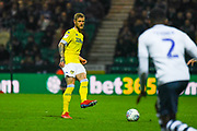 Liam Cooper of Leeds United (6) in action during the EFL Sky Bet Championship match between Preston North End and Leeds United at Deepdale, Preston, England on 9 April 2019.