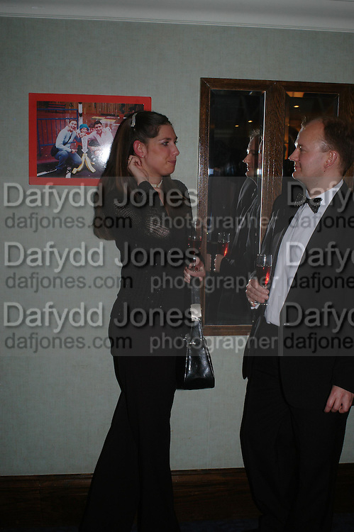Brian Pickering and Antonia Norrington. White Knights Ball, Grosvenor House Hotel 7 January 2005. ONE TIME USE ONLY - DO NOT ARCHIVE  © Copyright Photograph by Dafydd Jones 66 Stockwell Park Rd. London SW9 0DA Tel 020 7733 0108 www.dafjones.com