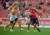 EMIRATES AIRLINE PARK, SOUTH AFRICA - APRIL 25: Harold Vorster of the Lions in action during the Vodacom Super Rugby match between the Emirates Lions and the Toyota Cheetahs played at Emirates Airline Park, Johannesburg, South Africa. (Photo by Anton Geyser/ Rugby 15/SASPA)