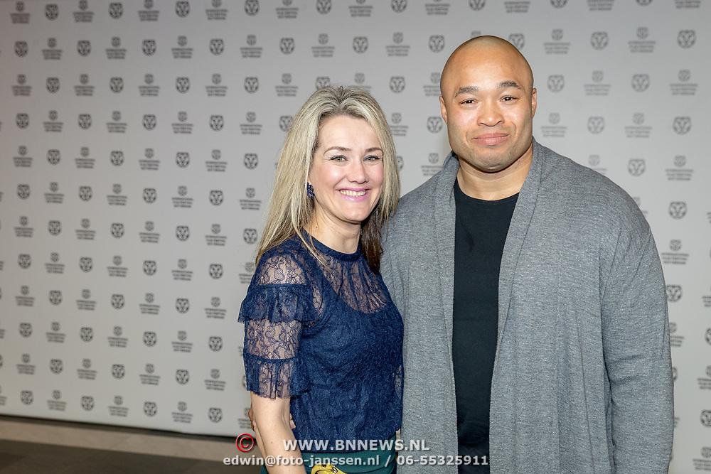 NLD/Rotterdam/20180124 - Openingsfilm IFFR 2018, premiere Jimmy, ex bokser Don Diego Poeder en partner Judith