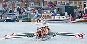 Henley, England.  Western Rowing Club, Canada, CAN W8+, winning the Remenham Challenge Cup at the 2015 Henley Royal Regatta, Henley Reach, River Thames. 13:07:07  Sunday  05/07/2015   [Mandatory Credit. Peter SPURRIER/Intersport Images.