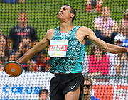 Pierce LePage (CAN) Pierce LePage (CAN) throws 145-10 (44.46m) in the discus in the decathlon  at the DecaStar meeting, Saturday, June 23, 2019, in Talence, France. LePage won with 8,453 points. (Jiro Mochizuki/Image of Sport)