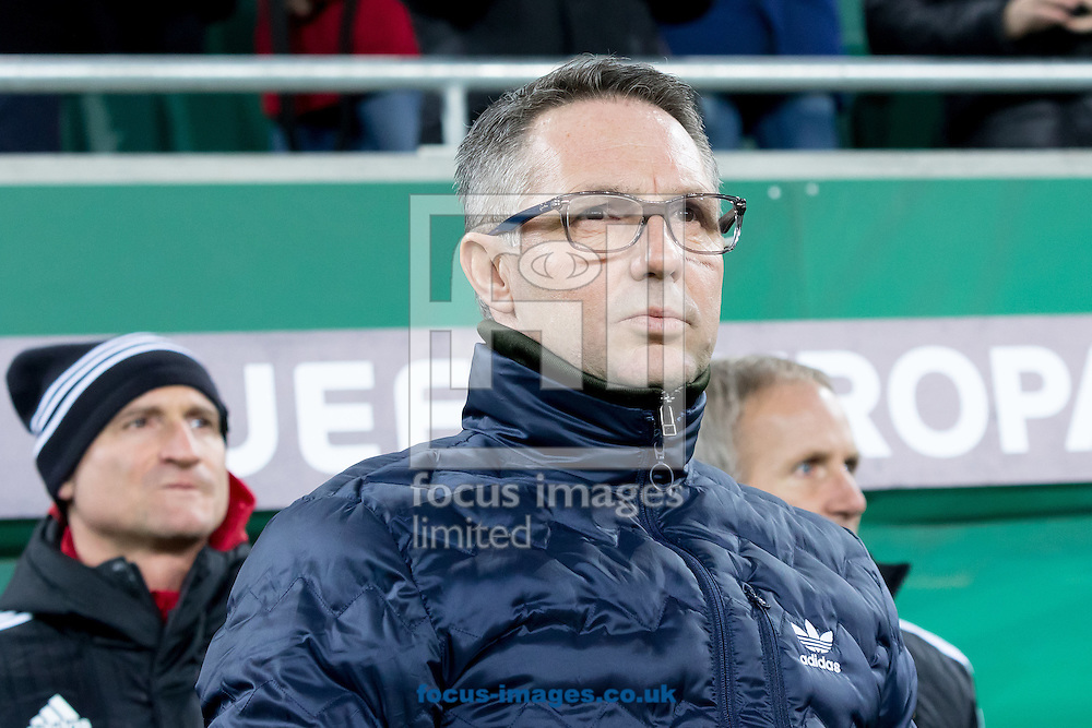 Damir Canadi , manager of Rapid Vienna during the UEFA Europa League match at Allianz Stadion, Vienna<br /> Picture by EXPA Pictures/Focus Images Ltd 07814482222<br /> 08/12/2016<br /> *** UK &amp; IRELAND ONLY ***<br /> <br /> EXPA-PUC-161208-0029.jpg