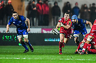 Scarlets' Jonathan Evans in action <br /> <br /> Photographer Craig Thomas/Replay Images<br /> <br /> Guinness PRO14 Round 17 - Scarlets v Leinster - Friday 9th March 2018 - Parc Y Scarlets - Llanelli<br /> <br /> World Copyright © Replay Images . All rights reserved. info@replayimages.co.uk - http://replayimages.co.uk